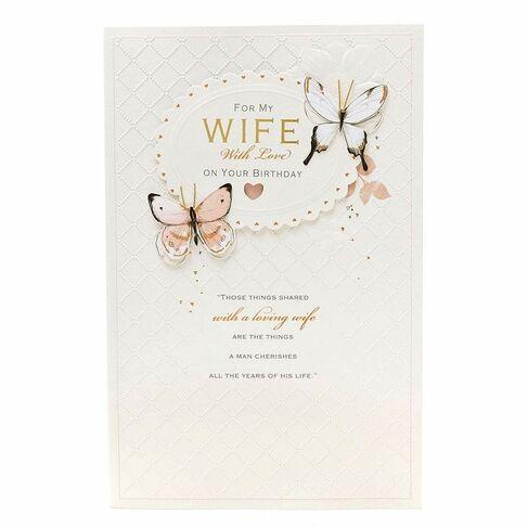 UK Greetings Gibson Wife Birthday Card