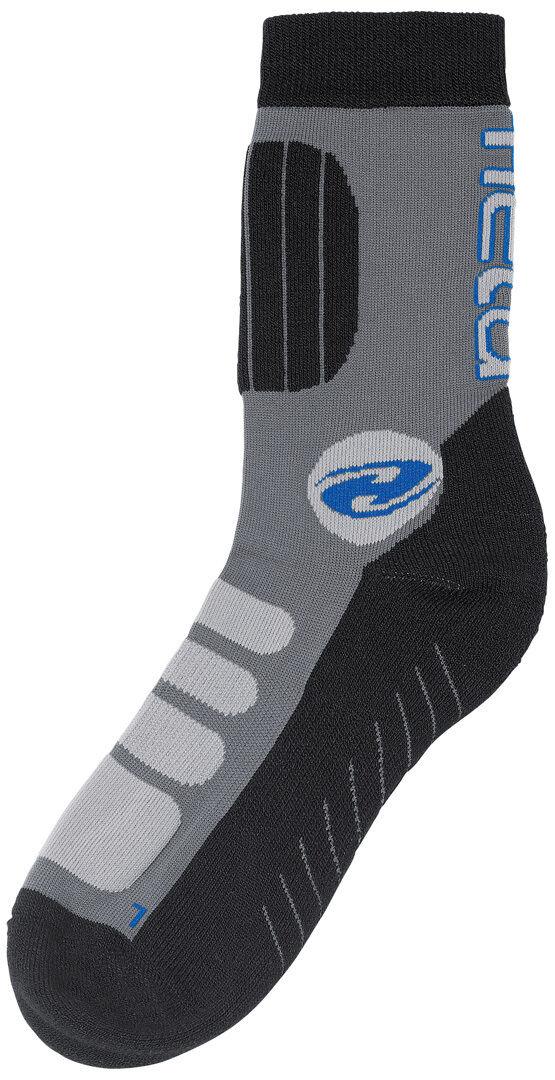 Held Bike Socks short Grey Blue S