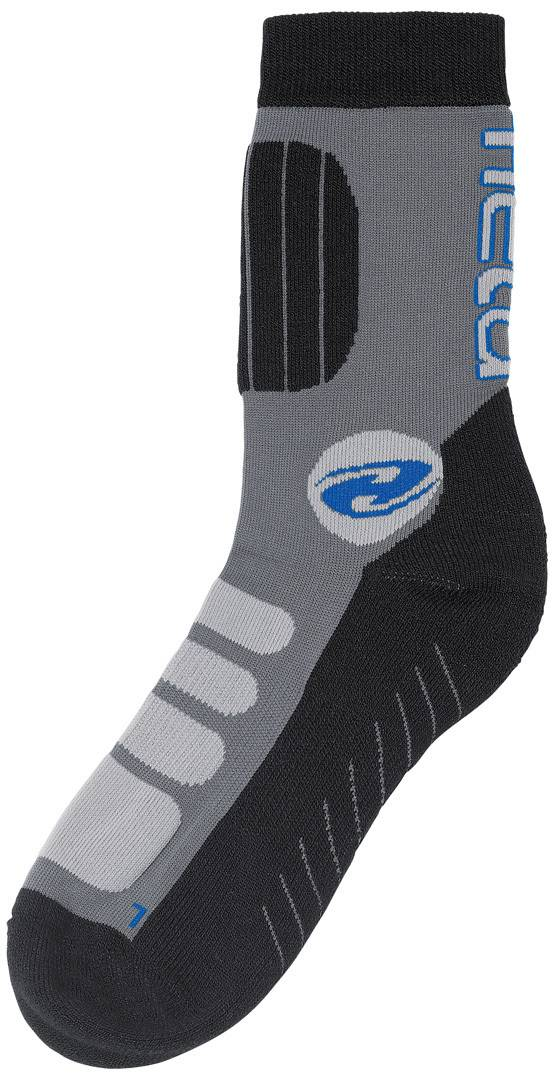 Held Bike Socks short Grey Blue L