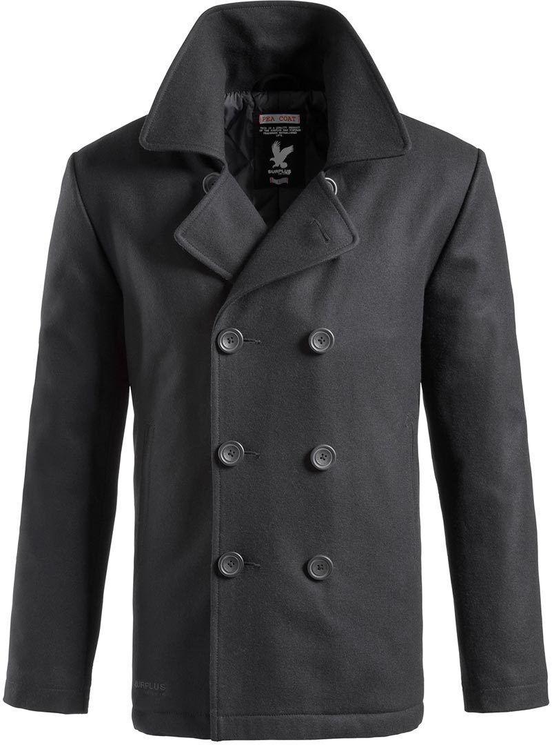 surplus pea coat blue m
