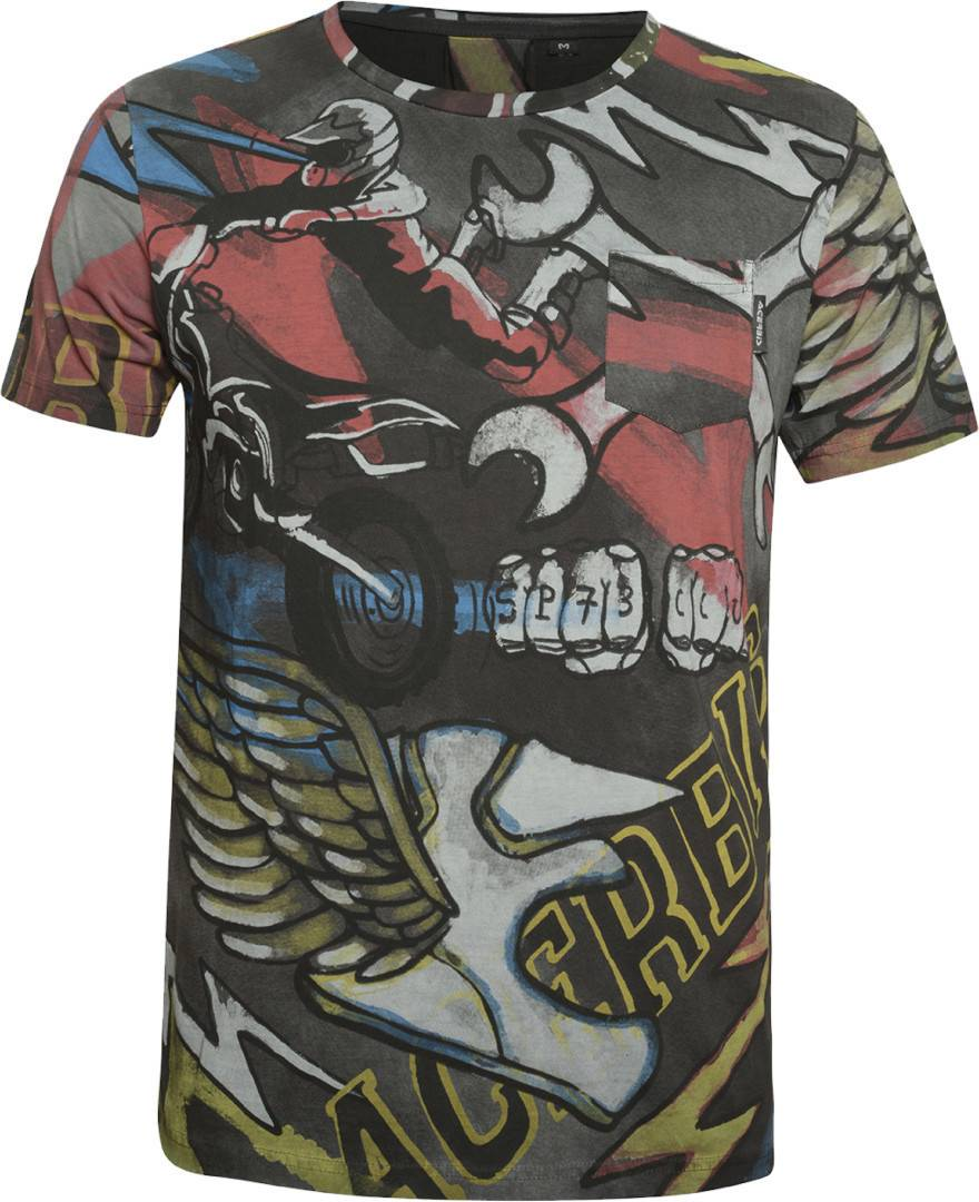 acerbis paint sp club t shirt black grey