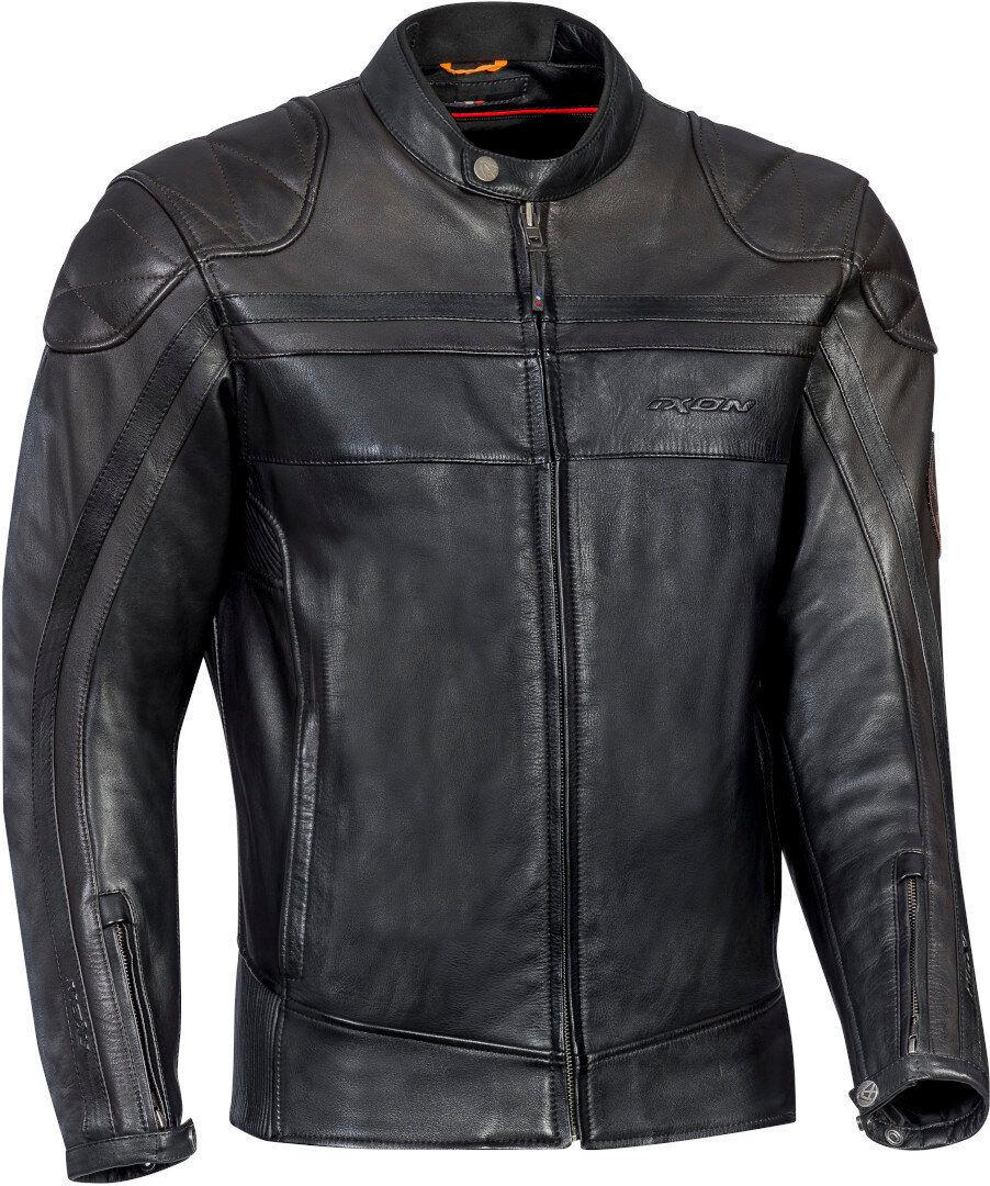 ixon pioneer motorcycle leather jacket black brown s