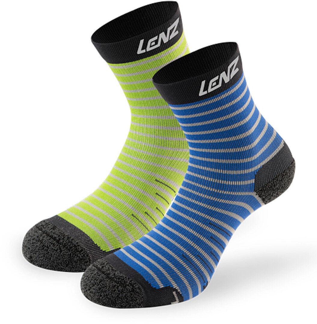 Lenz 1.0 Outdoor Kids Socks Green Blue 27 28 29 30