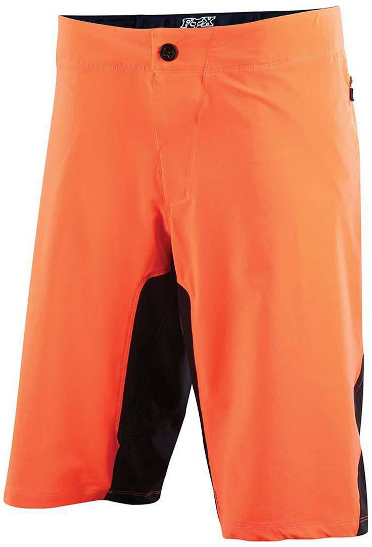 FOX Attack Q4 Bike Shorts  - Orange - Size: 34
