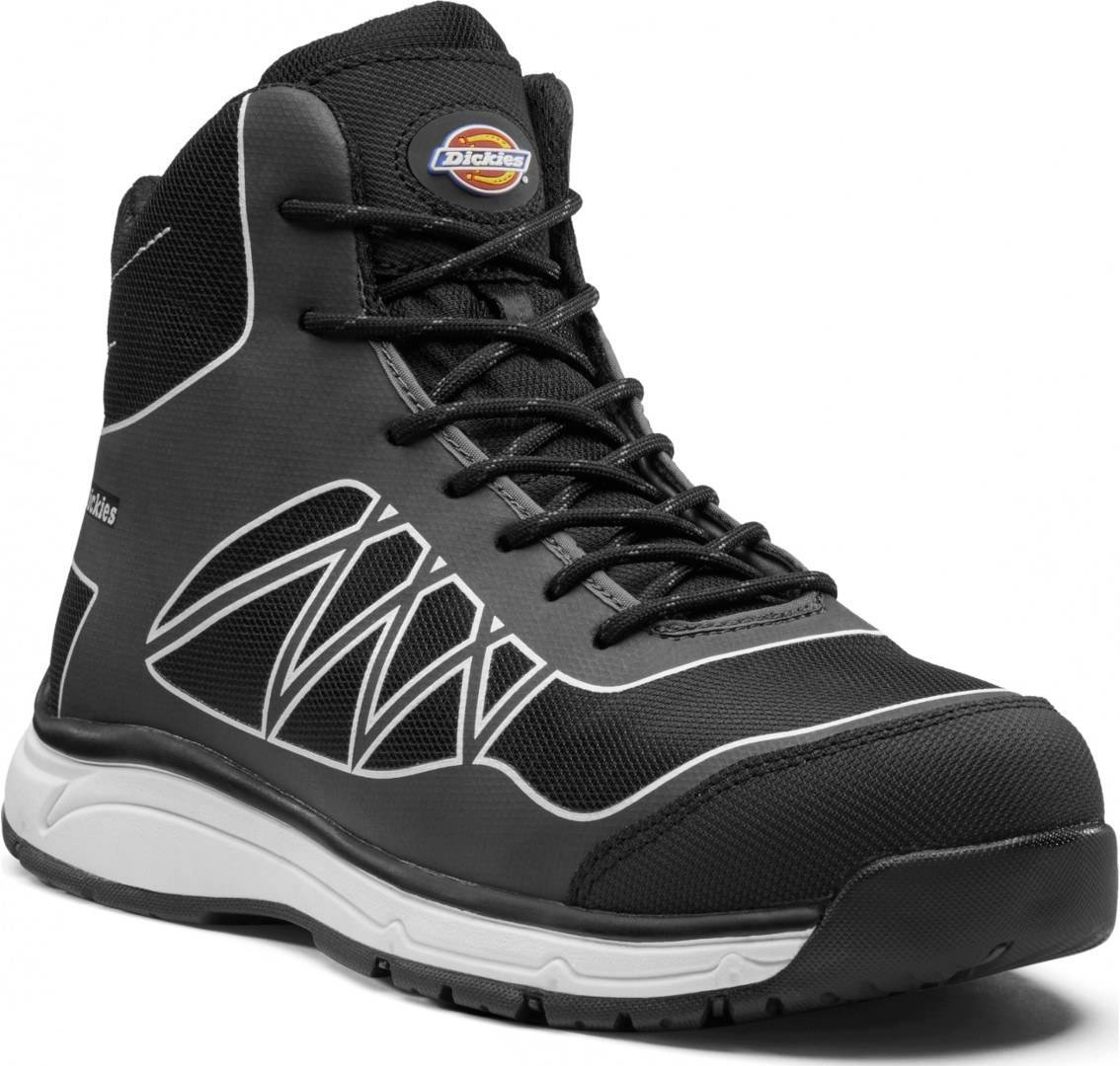 dickies workwear phoenix safety boots grey white 42