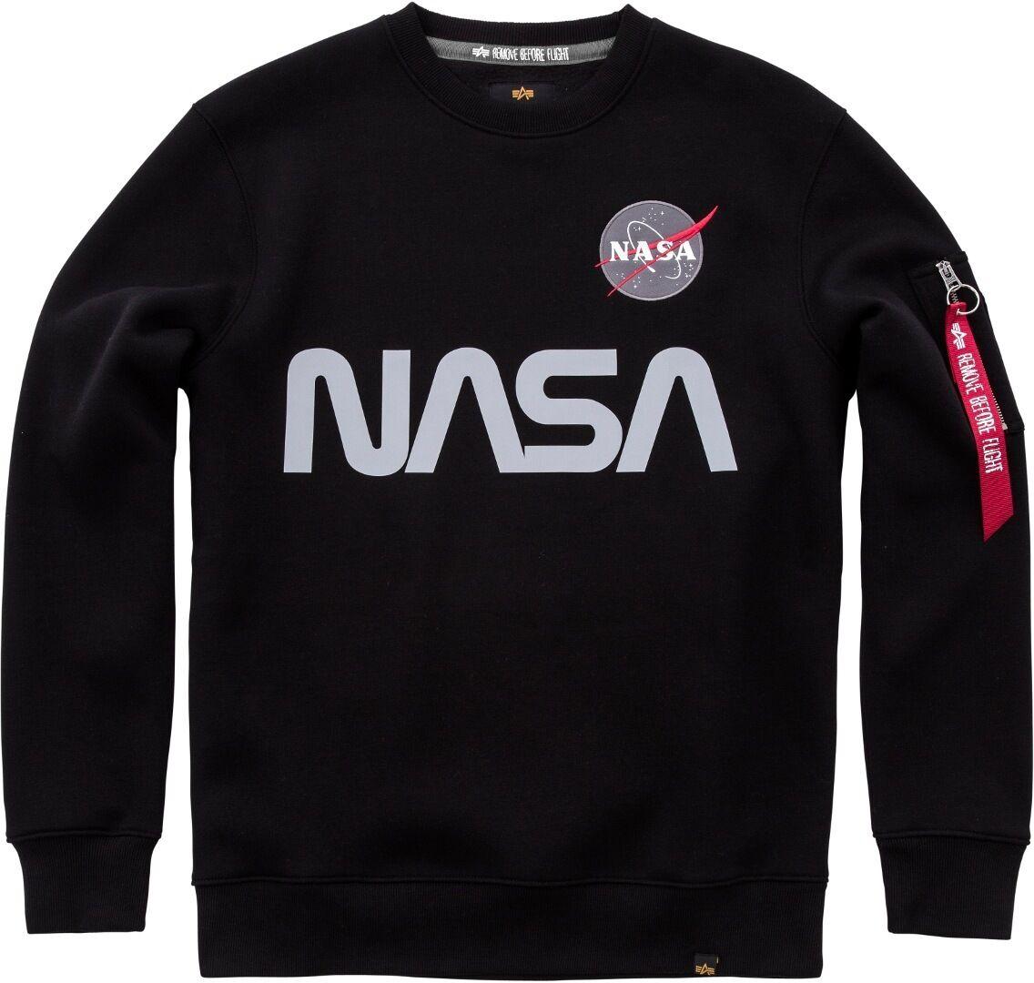 alpha industries nasa reflective sweatshirt black silver xl