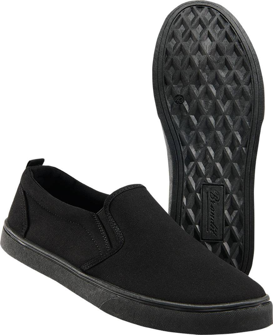 brandit southampton slip shoes black white 43