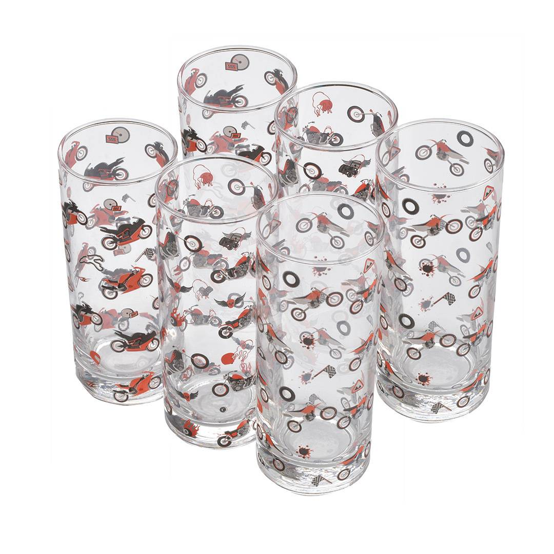 booster drink glass set 6 pieces