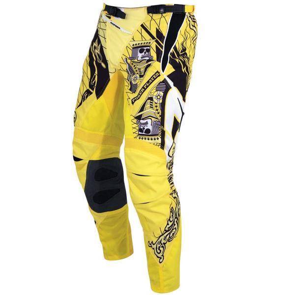 acerbis crazy top poker motocross pants black yellow