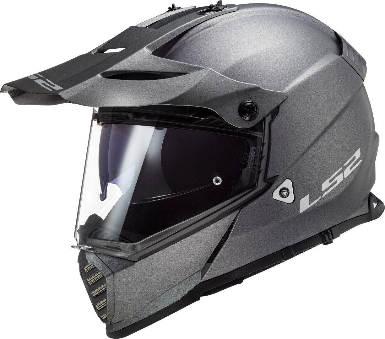 ls2 mx436 pioneer evo motocross helmet silver s