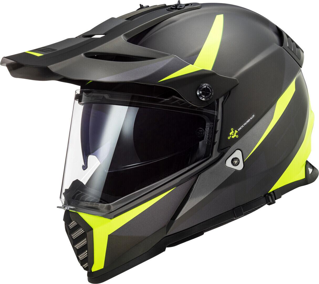 ls2 mx436 pioneer evo router motocross helmet black