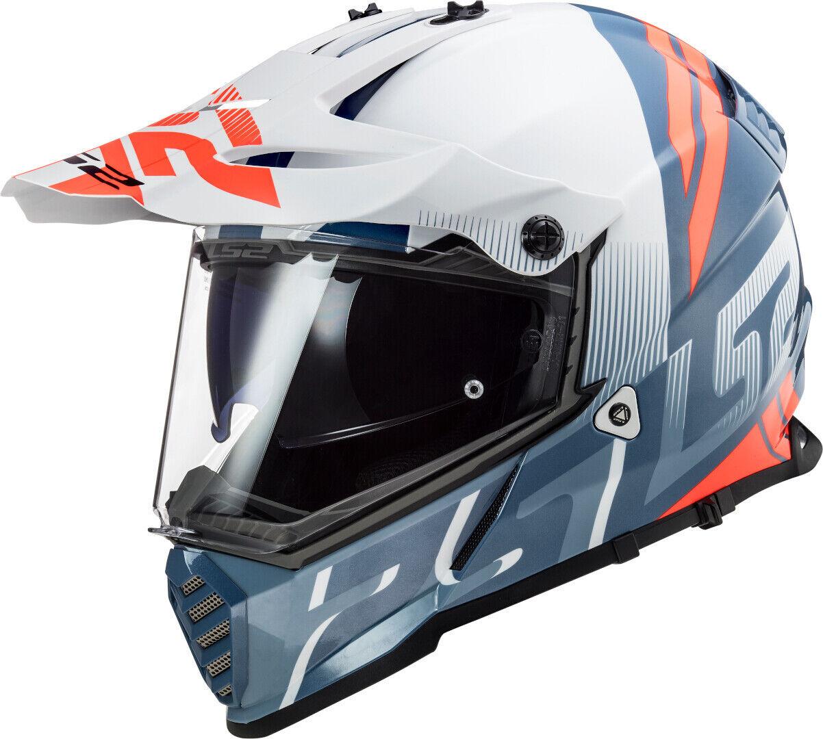 ls2 mx436 pioneer evo evolve motocross helmet white