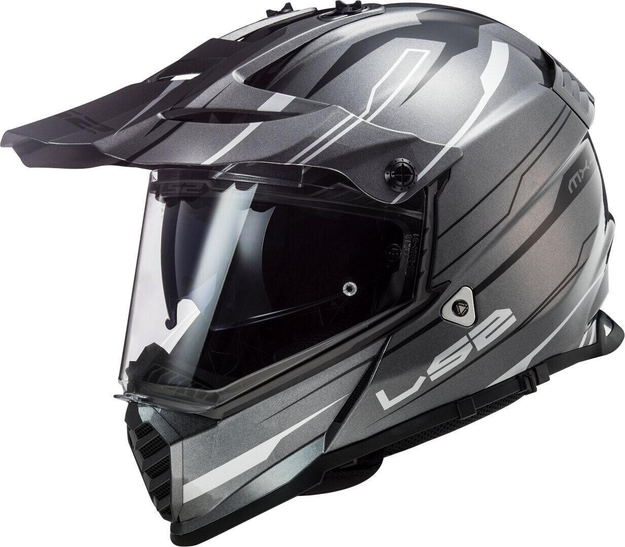 ls2 mx436 pioneer evo knight motocross helmet grey