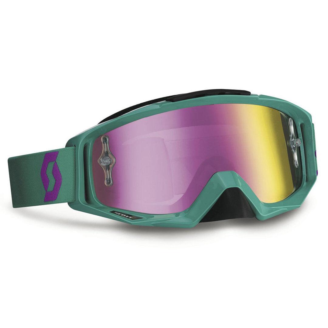 Scott Tyrant Purple Chrome Works Goggle  - Size: One Size