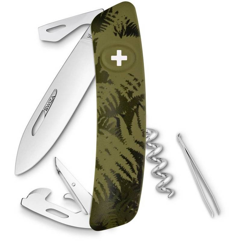 swiza c03 swiss army knife silva camo fern