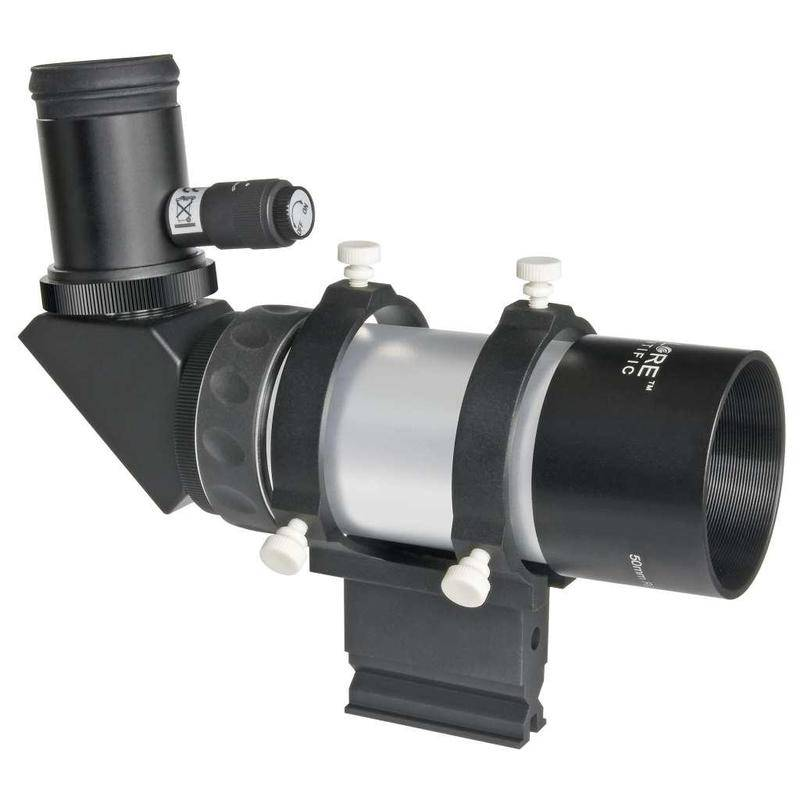 Explore Scientific ES 8x50 finder 90° angled eyepiece with Amici prism and polar engraving