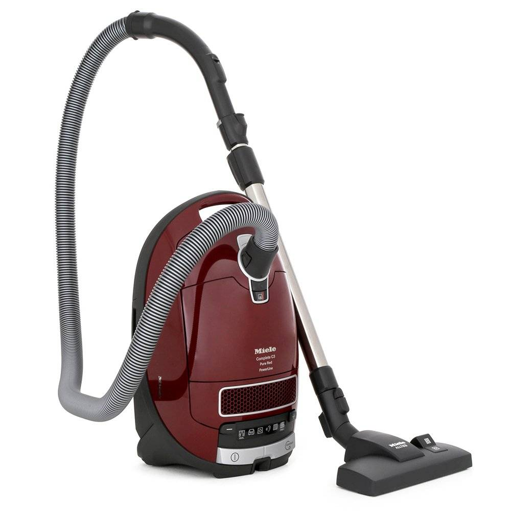 miele complete c3 pure red powerline cylinder vacuum