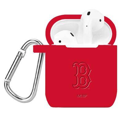 "Artinian """"""Red Boston Sox Debossed Silicone AirPods Case Cover"""""""