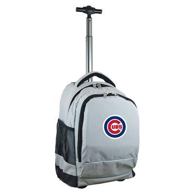 """""""""""""""mojo licensing"""""""""""" """"""""""""Gray Chicago Cubs 19'' Premium Wheeled Backpack"""""""""""""""