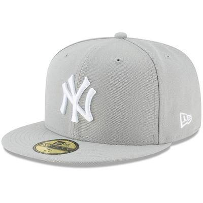 """""""""""""""New Era"""""""""""" """"""""""""Men's New Era Gray York Yankees Fashion Color Basic 59FIFTY Fitted Hat"""""""""""""""