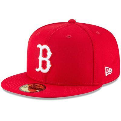 """""""New Era"""""" """"""Men's New Era Red Boston Sox Fashion Color Basic 59FIFTY Fitted Hat"""""""