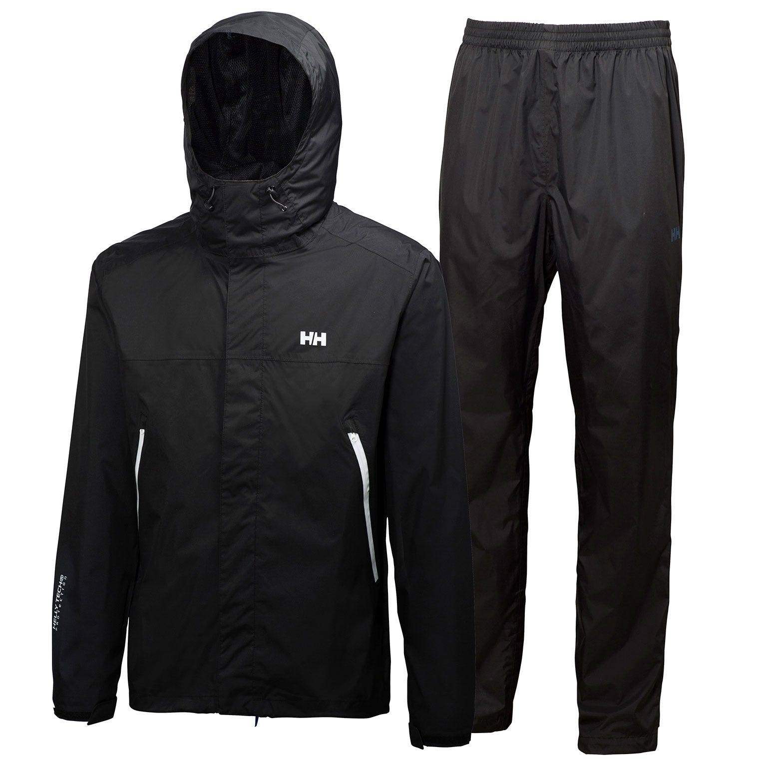Helly Hansen Lysefjord Set Rain Jacket Black XXXL