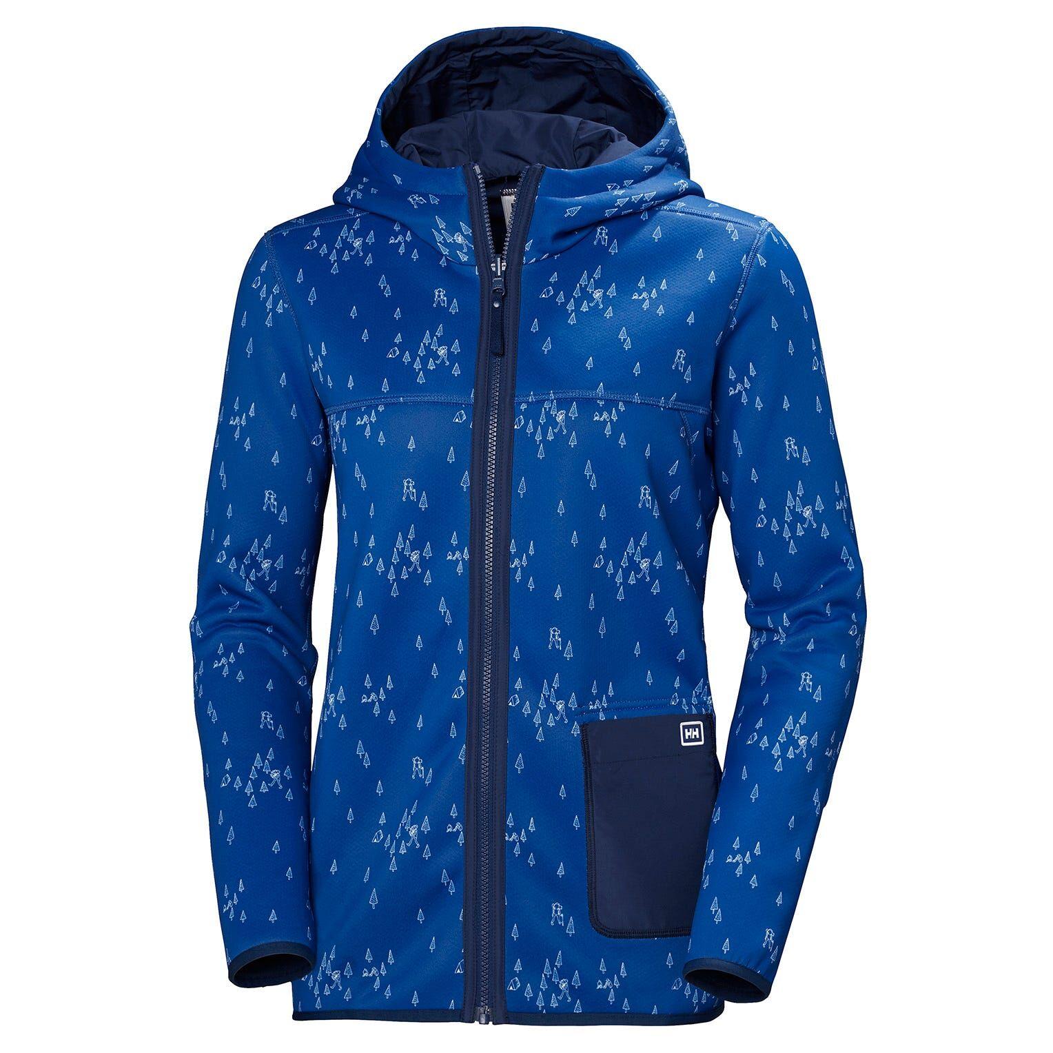 Helly Hansen W Verket Reversible Pile Womens Hiking Jacket Blue L
