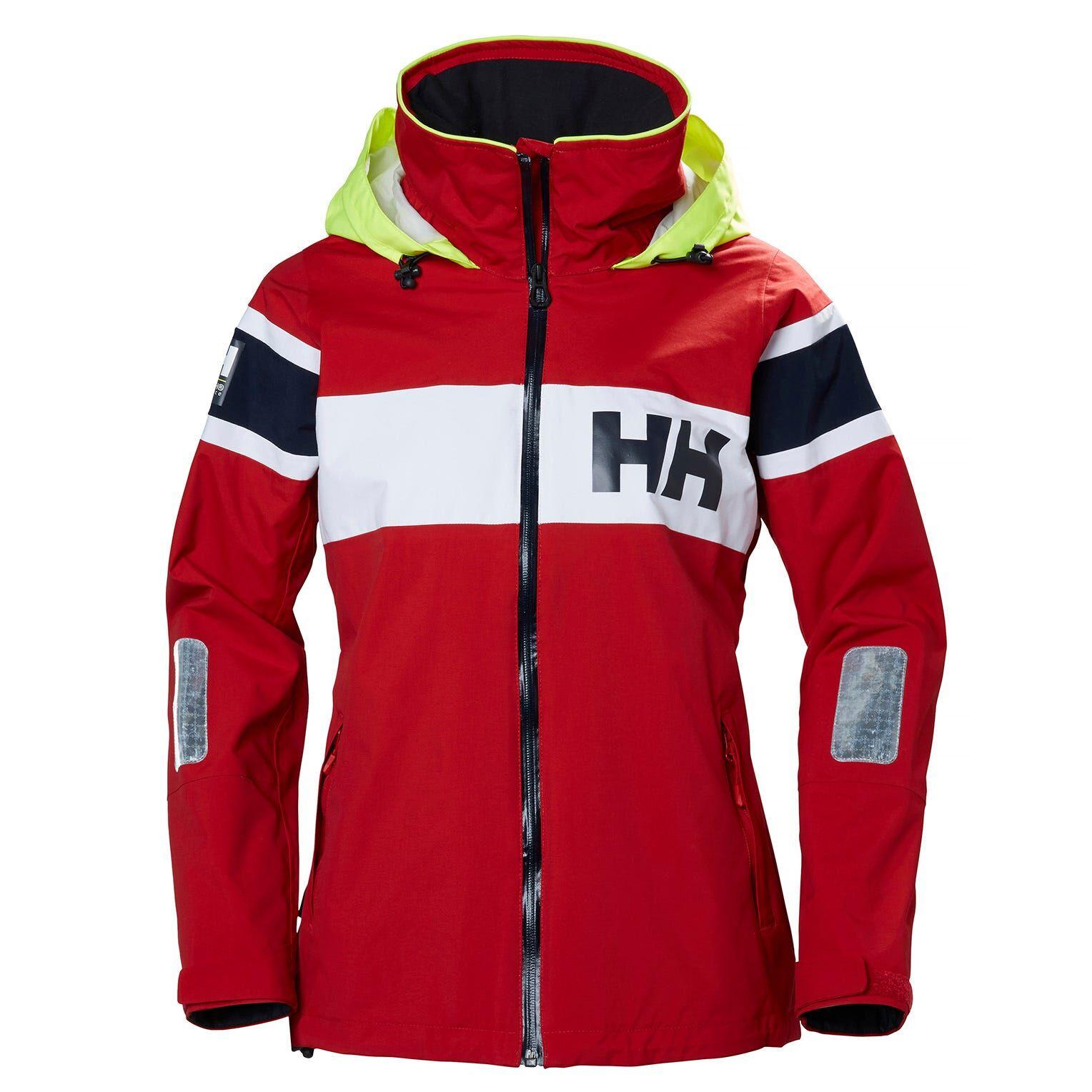 Helly Hansen W Salt Flag Jacket Womens Sailing Red L