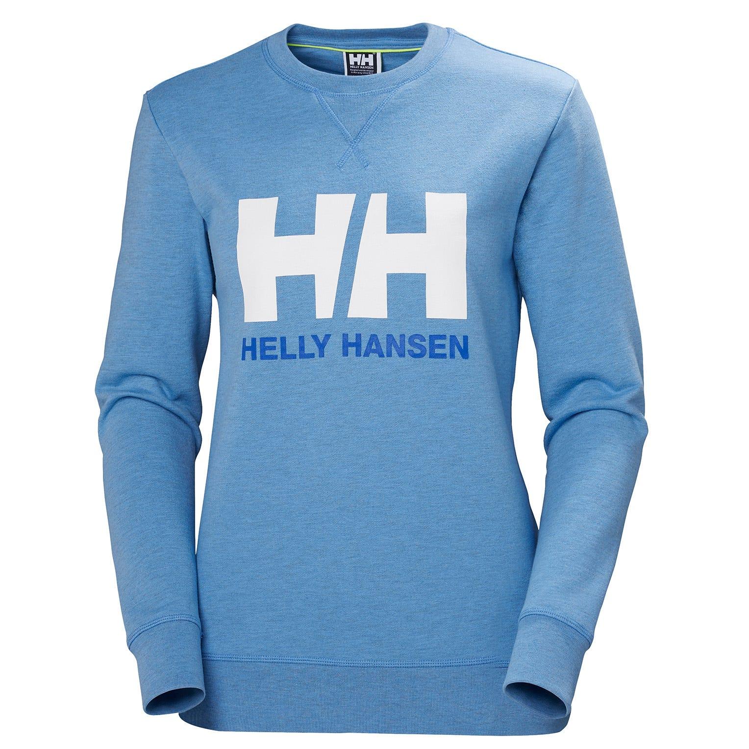 Helly Hansen W Logo Crew Sweat Womens Midlayer Blue S