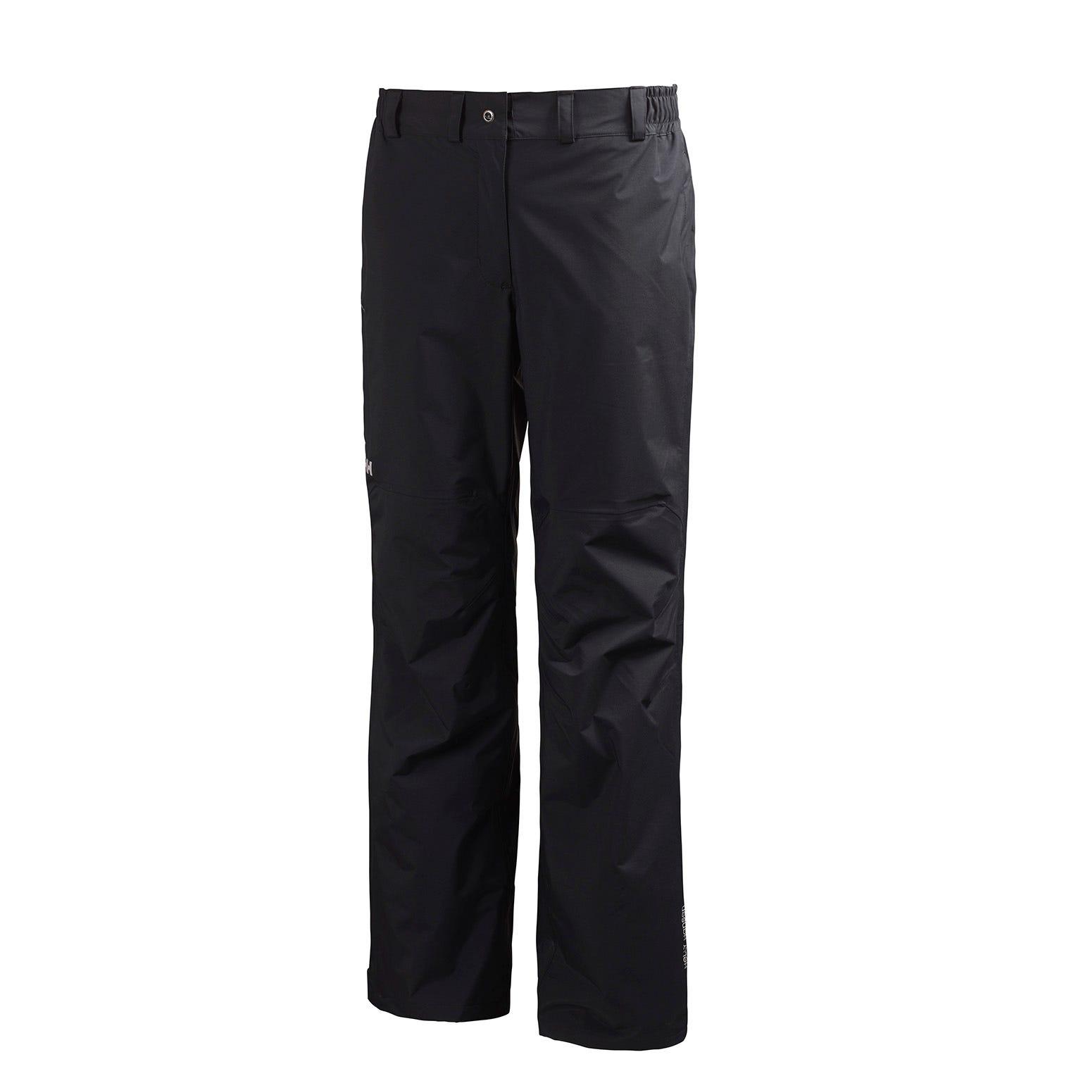 Helly Hansen W Packable Pant Womens Rain Black XL