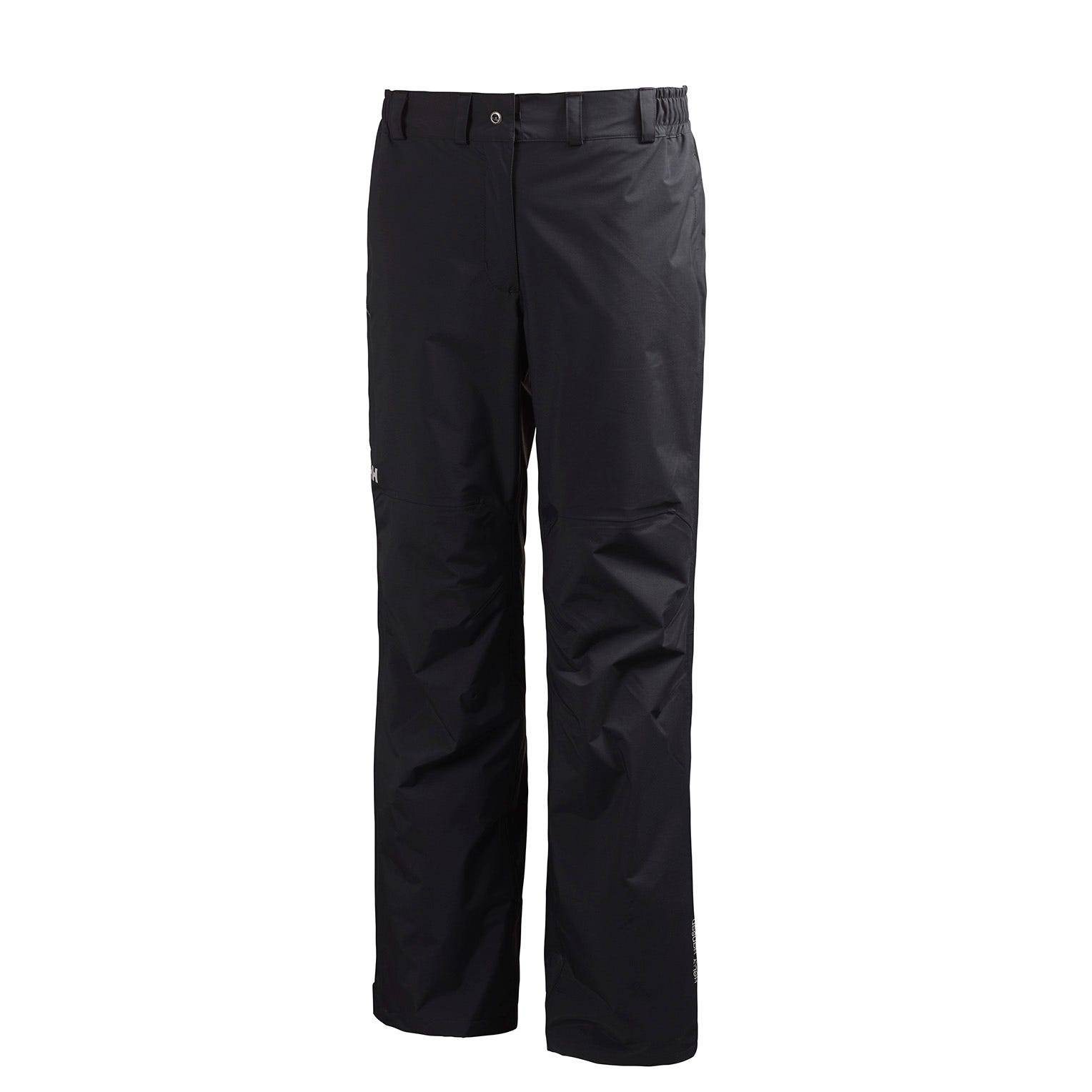 Helly Hansen W Packable Pant Womens Rain Black XS