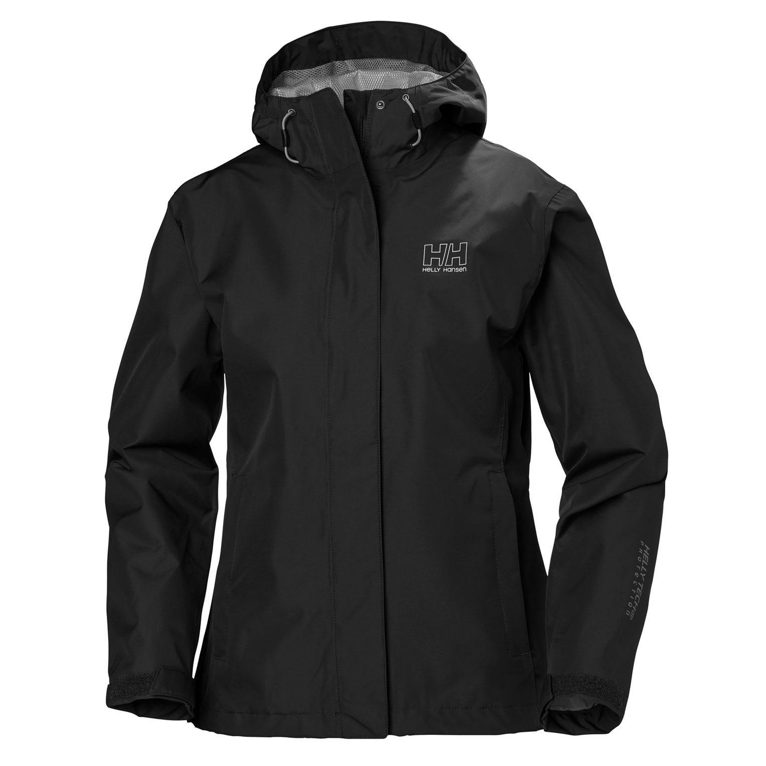 Helly Hansen W Seven J Jacket Womens Rain Black XXXL