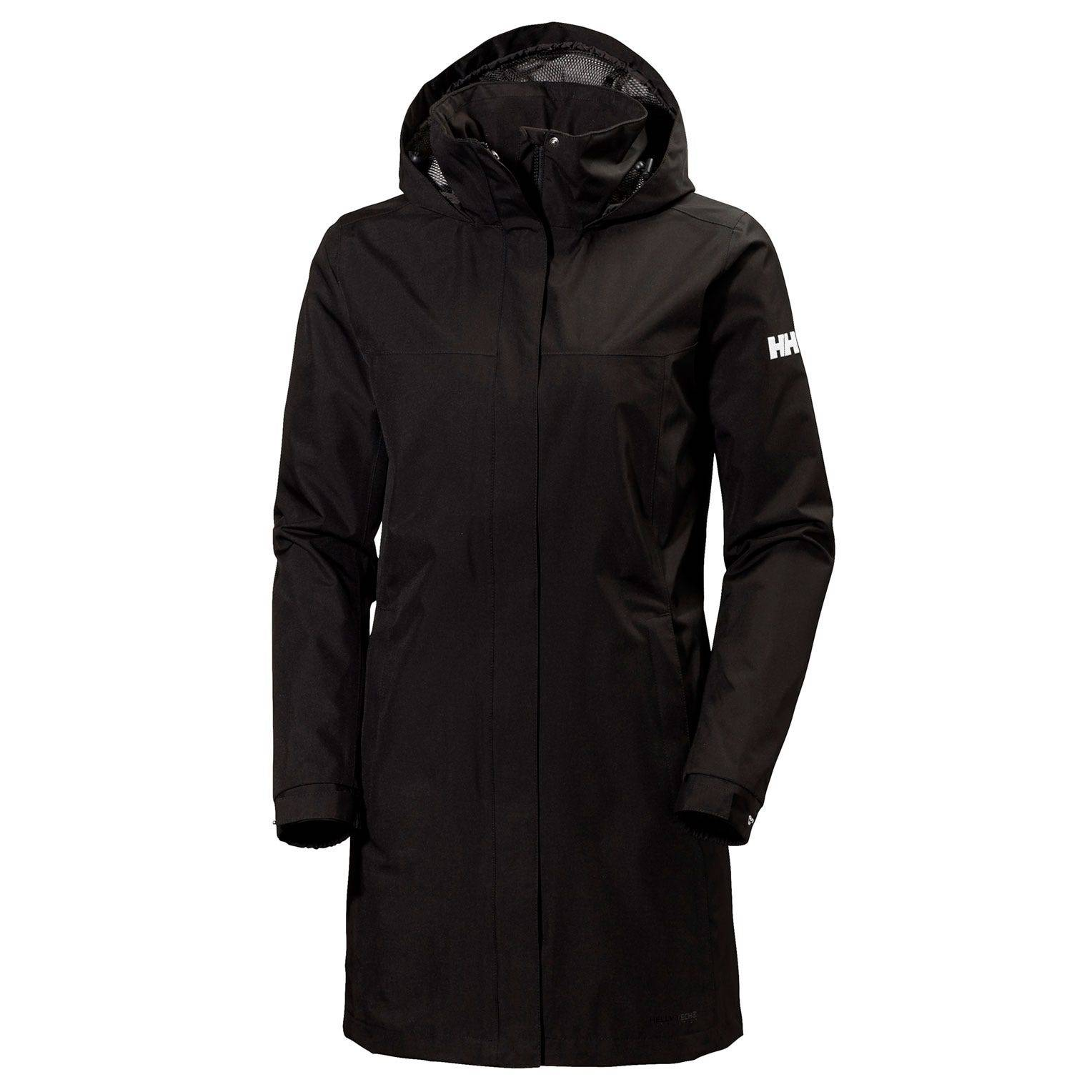 Helly Hansen W Aden Long Coat Womens Rain Jacket Black M