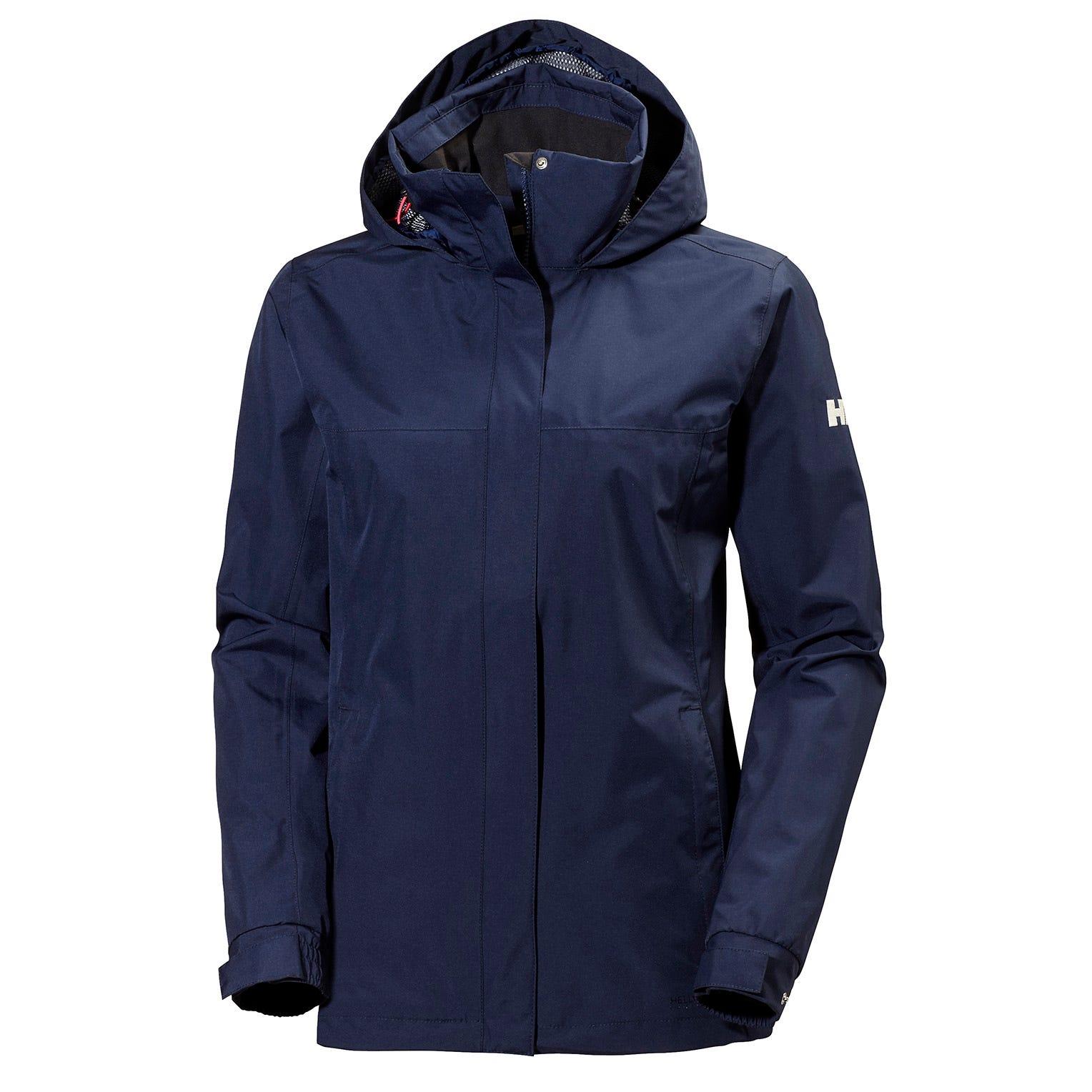 Helly Hansen W Aden Jacket Womens Rain Navy L