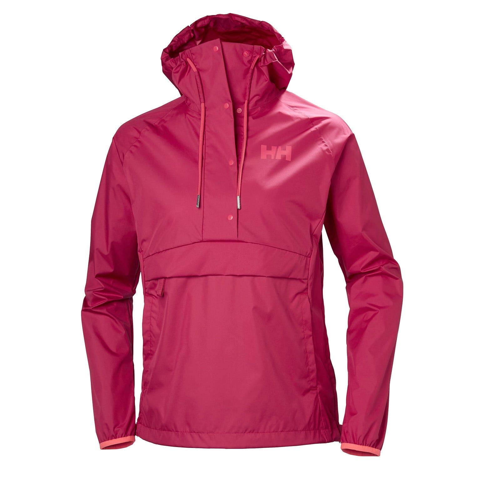 Helly Hansen W Loke Packable Anorak Womens Hiking Jacket Pink XS