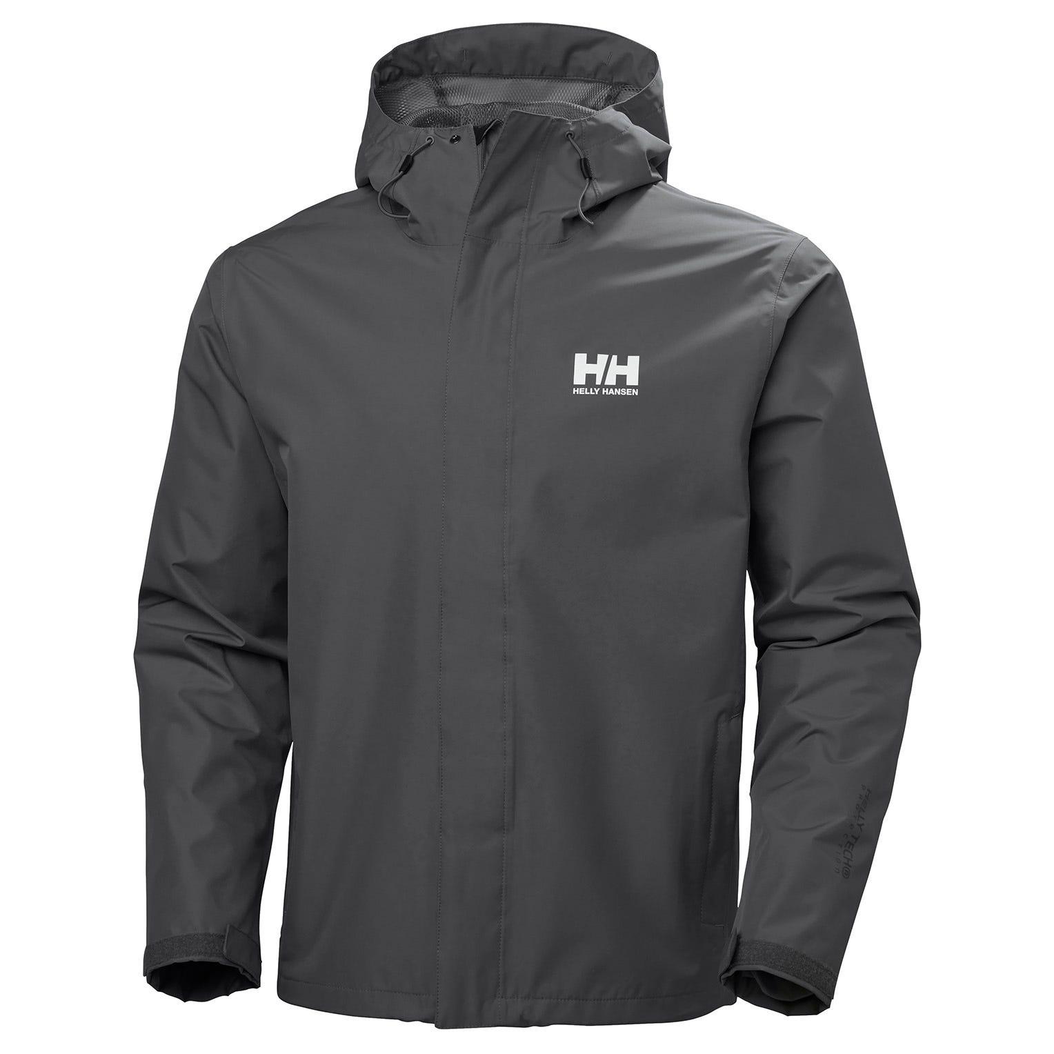 Helly Hansen Seven J Jacket Mens Rain Grey XL