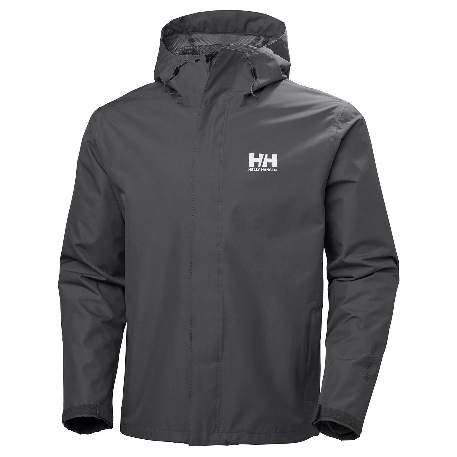 Helly Hansen Seven J Jacket Mens Rain Grey S