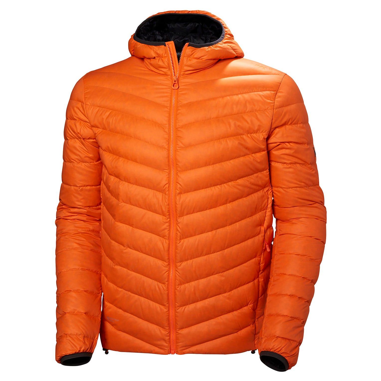 Helly Hansen Verglas Hooded Down Insulator Mens Hiking Jacket Orange L