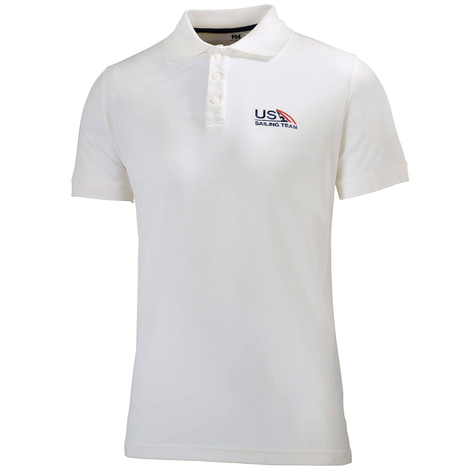 Helly Hansen Riftline Polo Us Sailing Team Mens Performance Wicking White L
