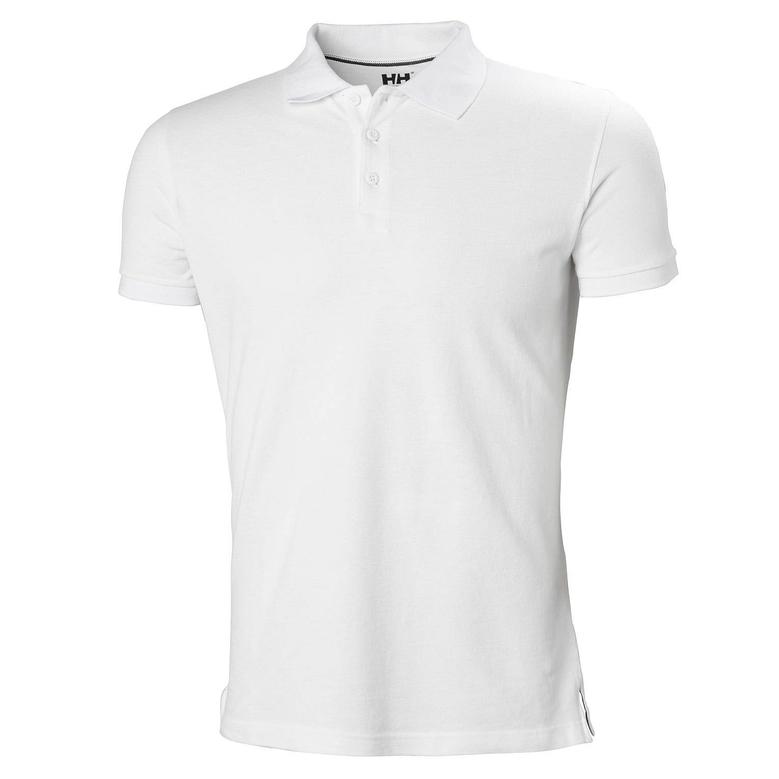 Helly Hansen Crew Polo Mens Performance Wicking White L