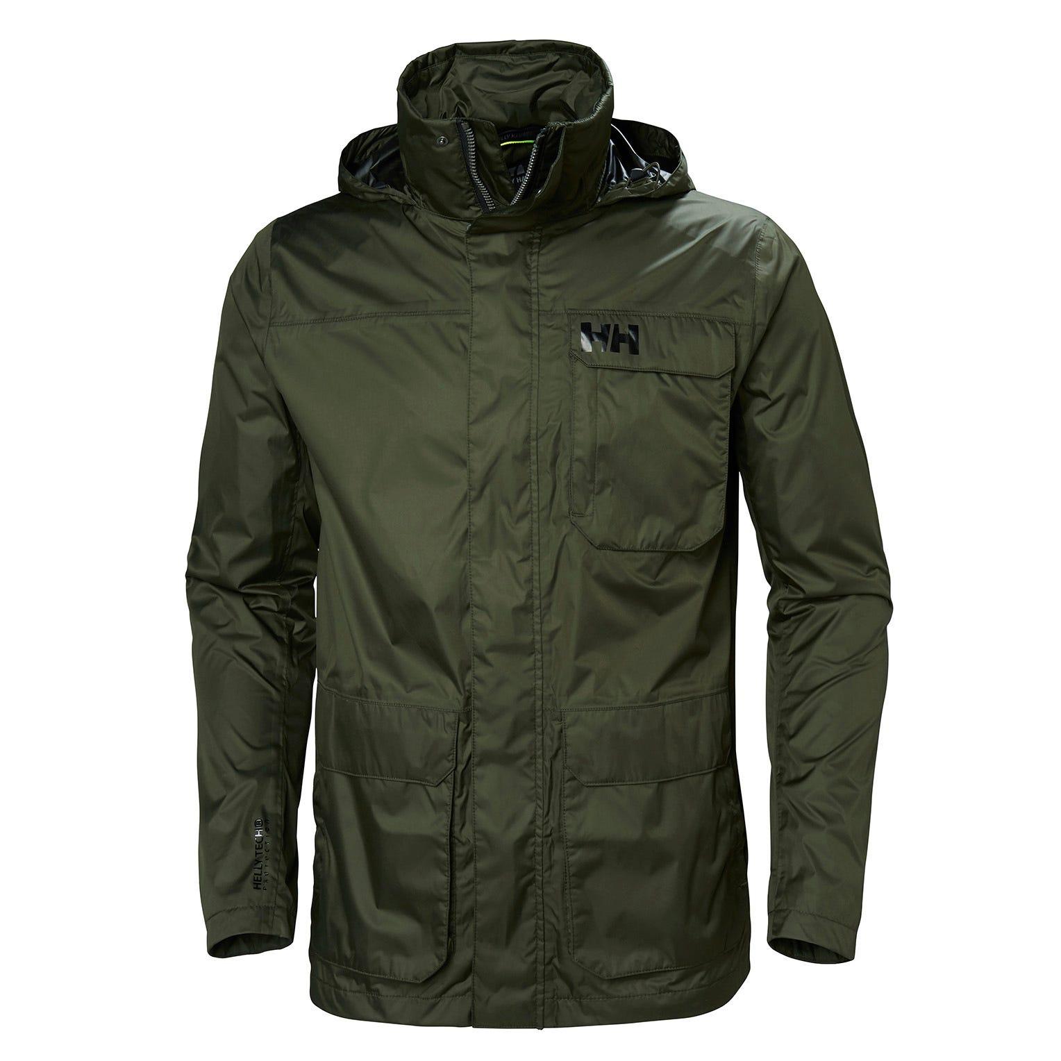 Helly Hansen Urban Utility Jacket Mens Rain Green L