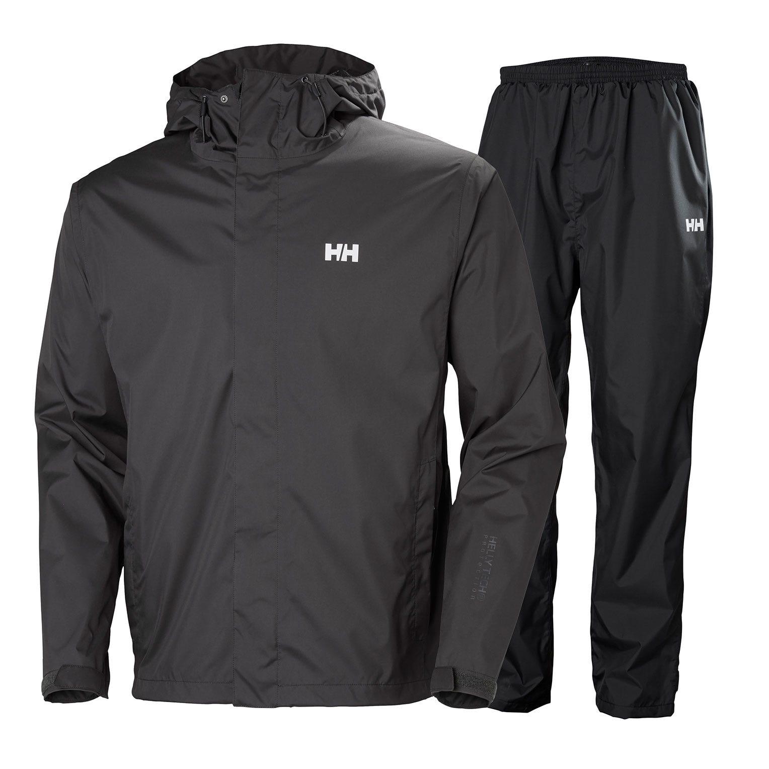 Helly Hansen Portland Rain Set Mens Jacket Black XL