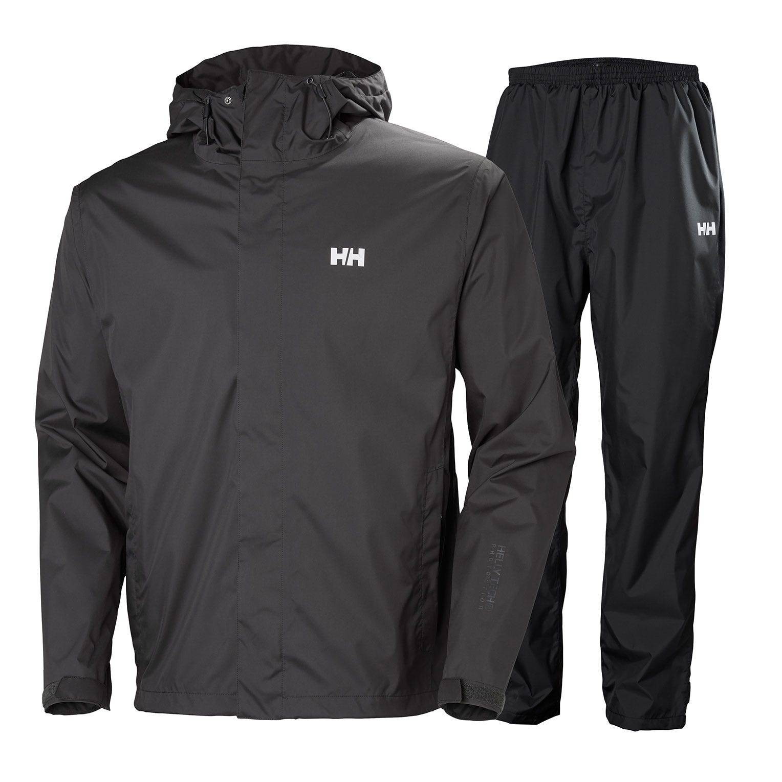Helly Hansen Portland Rain Set Mens Jacket Black XXL