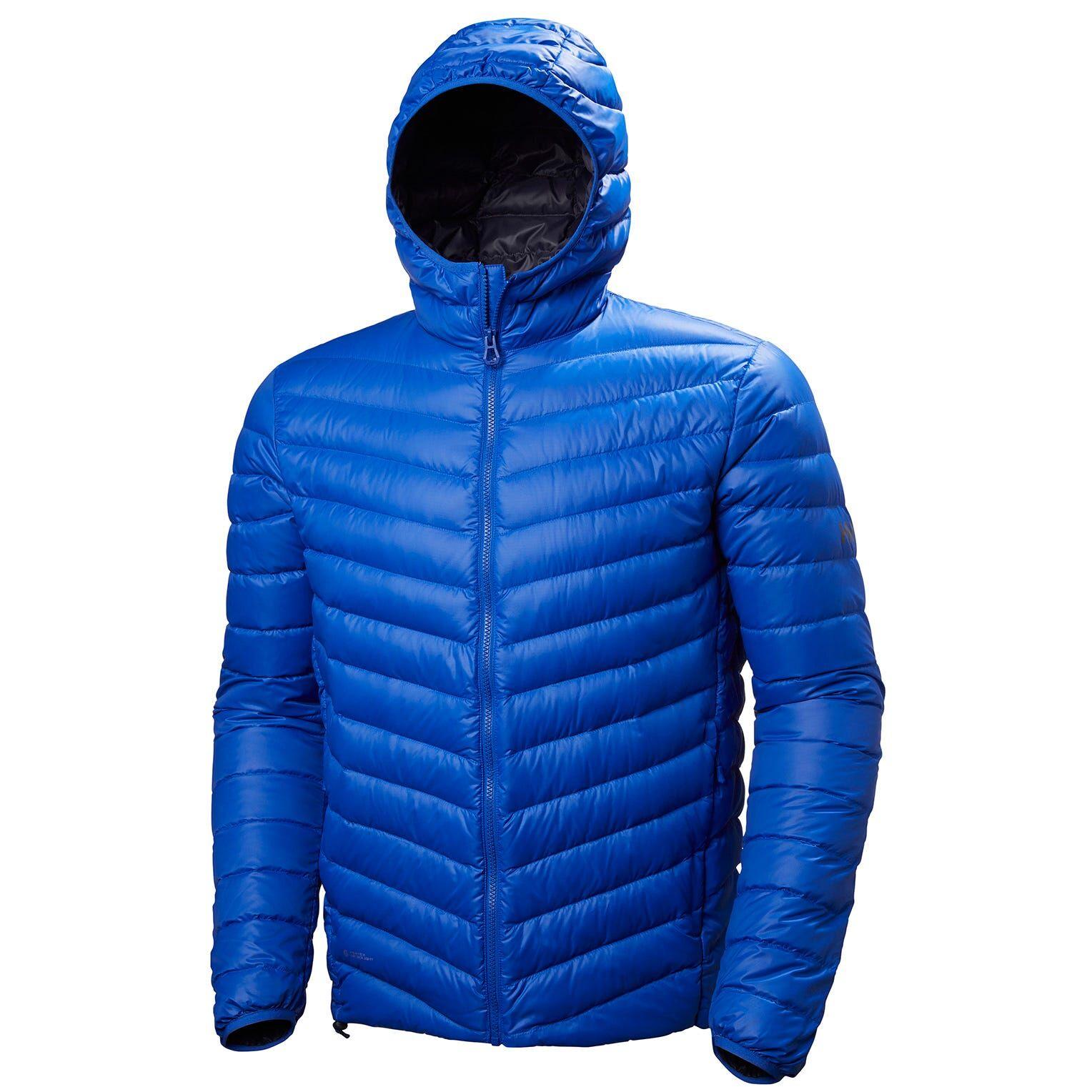 Helly Hansen Verglas Hooded Down Insulator Mens Hiking Jacket Blue XL