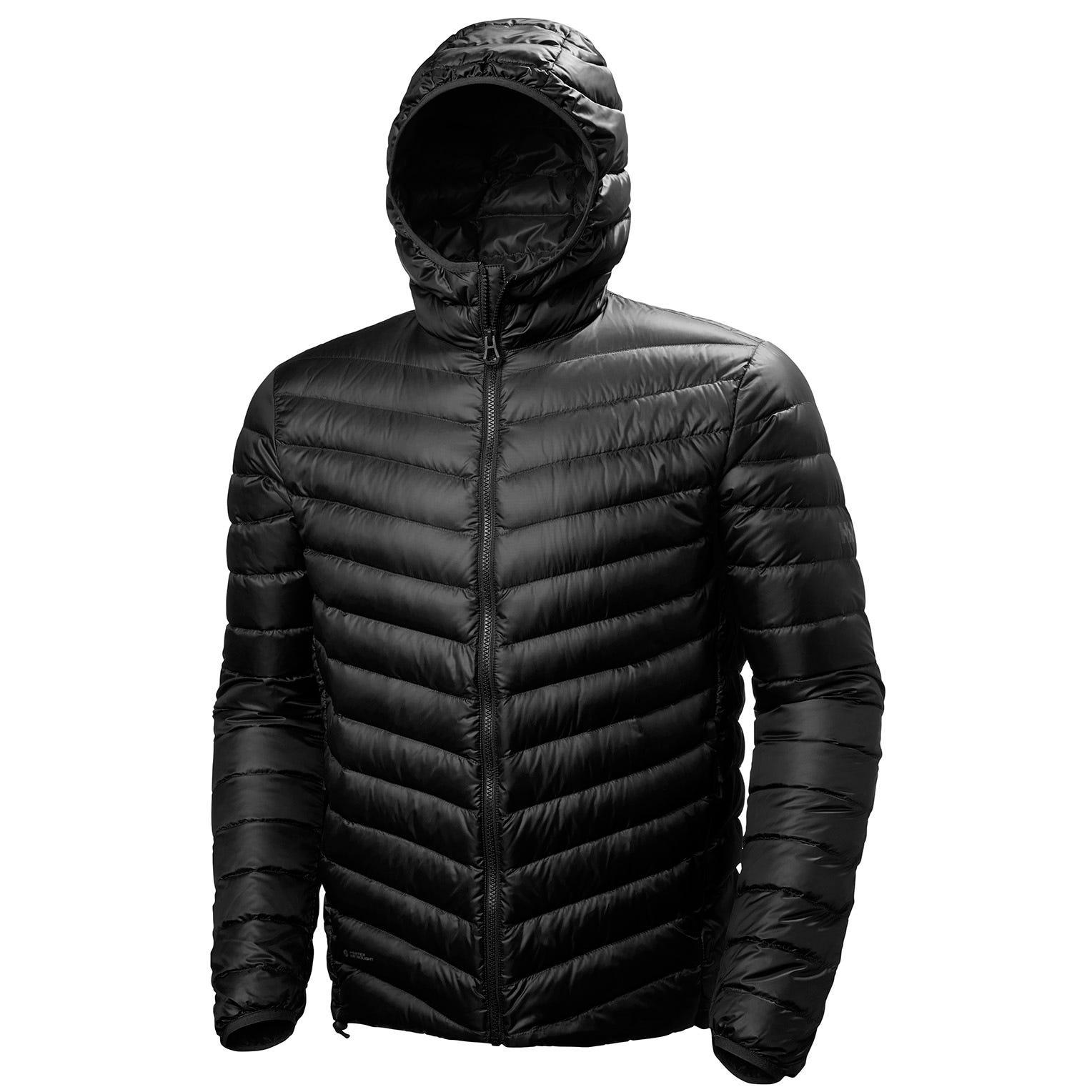 Helly Hansen Verglas Hooded Down Insulator Mens Hiking Jacket Black M