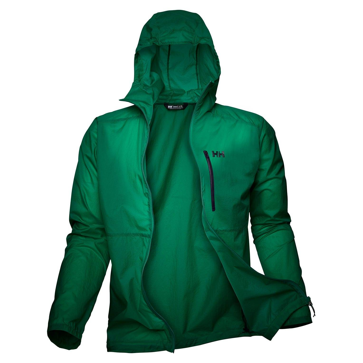 Helly Hansen Vana Windbreaker Jacket Mens Hiking Green M