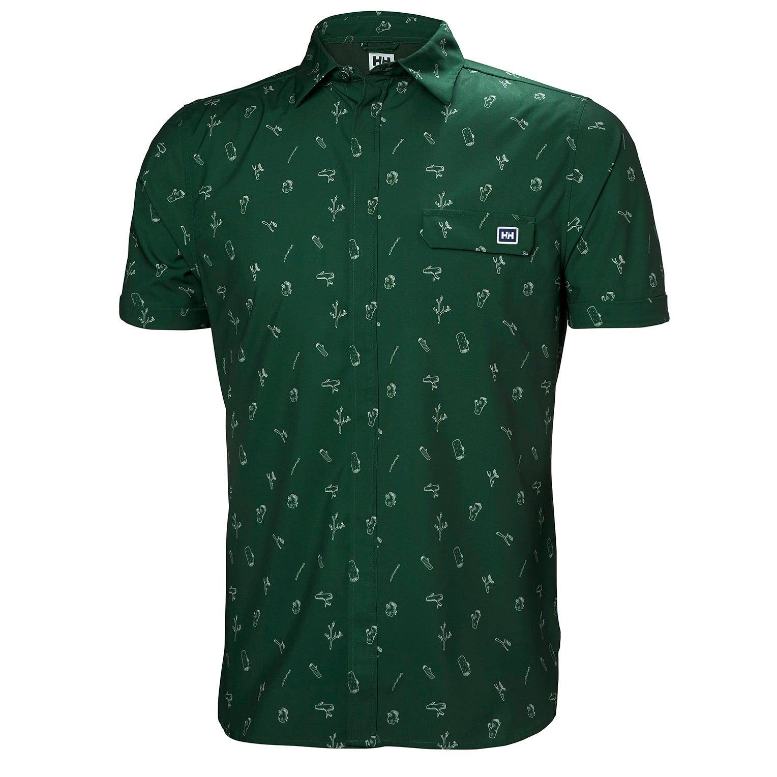 Helly Hansen Oya Shirt Mens Midlayer Green XXL