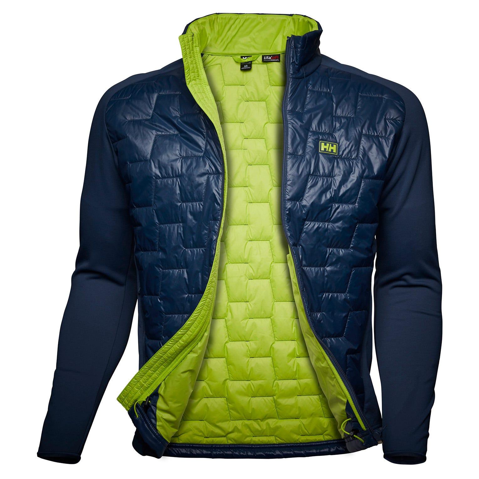 Helly Hansen Lifaloft Hybrid Insulator Jacket Mens Fleece Yellow XL
