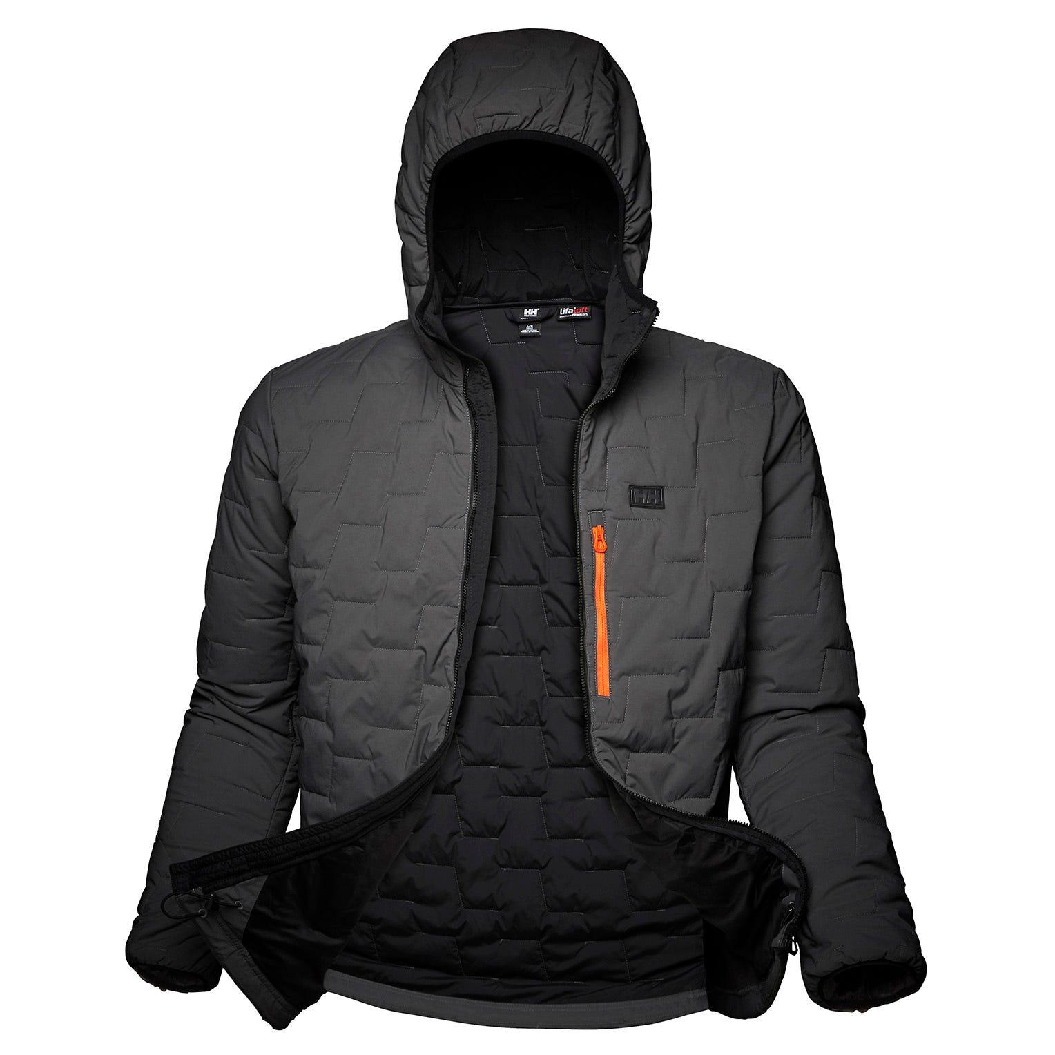 Helly Hansen Lifaloft Hooded Stretch Insulator Mens Fleece Grey S