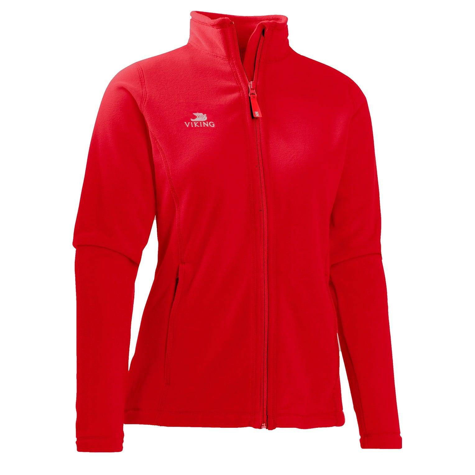 Helly Hansen W Vc Daybreaker Fleece Jkt Womens Midlayer Red XL